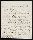 view Joel Tanner Hart, Florence, Italy letter to Joshua Humphreys, Paris, France digital asset number 1