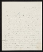 view Richard William Hubbard letter to unidentified recipient digital asset number 1