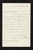 view Francis Lathrop letter to Thomas B. (Thomas Benedict) Clarke digital asset number 1