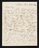 view Charles R. Leslie, London, England letter to Charles Bird King, Baltimore, Md. digital asset number 1