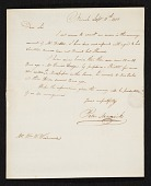 view Peter Maverick, Newark, N.J. letter to William Woodward, Philadelphia, Pa. digital asset number 1