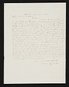 view Jervis McEntee, Rondout, N.Y. letter to Asher Brown Durand digital asset number 1