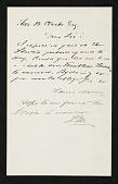 view Louis Moeller, New York, N.Y. letter to Thomas B. (Thomas Benedict) Clarke, New York, N.Y. digital asset number 1