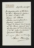 view Reciept of sale of studies and paintings by Louis Moeller to Thomas B. Clarke. digital asset number 1