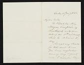 view Benjamin Moran, London, England letter to unidentified recipient, New York, N.Y. digital asset number 1