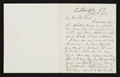 view Thomas Moran, East Hampton, N.Y. letter to unidentified recipient digital asset number 1