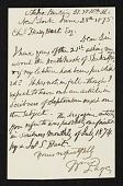view William Page, New York, N.Y. letter to Charles Henry Hart, New York, N.Y. digital asset number 1