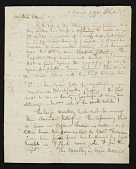 view Raphaelle Peale, Philadelphia, Pa. letter to Charles Willson Peale, New York, N.Y. digital asset number 1