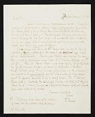 view Rembrandt Peale, Philadelphia, Pa. letter to C. Edwards (Charles Edwards) Lester, New York, N.Y. digital asset number 1
