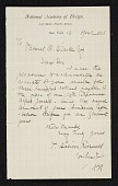view T. Addison (Thomas Addison) Richards, New York, N.Y. letter to Thomas B. (Thomas Benedict) Clarke digital asset number 1