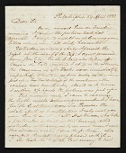 view Alexander Robertson, Philadelphia, Pa. letter to John Trumbull, New York, N.Y. digital asset number 1