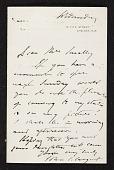 view John Singer Sargent, Westminster, U.K. letter to unidentified recipient digital asset number 1