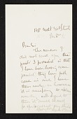 view Augustus Saint-Gaudens, New York, N.Y. letter to unidentified recipient digital asset number 1
