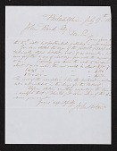 view John Sartain, Philadelphia, Pa. letter to John Goffe Rand digital asset number 1