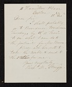 view R. M. (Richard Morrell) Staigg, Boston, Mass. letter to unidentified recipient digital asset number 1