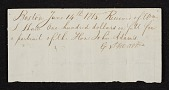 view Receipt for purchase by Wm. S. Shaw of the portrait of the Hon. John Adams from G. Stuart. digital asset number 1