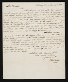 view Thomas Sully, Philadelphia, Pa. letter to Asher Brown Durand, New York, N.Y. digital asset number 1