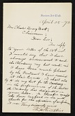 view T. H. Tompkins, Boston, Mass. letter to Charles Henry Hart digital asset number 1