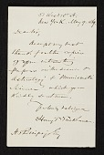 view Henry T. (Henry Theodore) Tuckerman, New York, N.Y. letter to unidentified recipient digital asset number 1