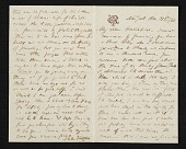 view Elihu Vedder, New York, N.Y. letter to Thomas H. Hotchkiss digital asset number 1