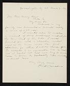 view Olin Levi Warner, New York, N.Y. letter to Charles Henry Hart, Philadelphia, Pa. digital asset number 1