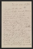 view Frederic Edwin Church letter to Martin Johnson Heade digital asset number 1