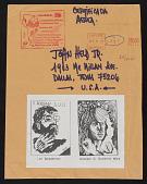 view Edgardo Vigo mail art to John Held Jr. digital asset number 1