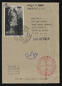 view Edgardo Vigo, Buenos Aires, Argentina mail art to John Held Jr., Dallas, Texas digital asset number 1