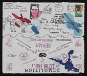 view Mail art collaboration sent to John Evans digital asset number 1