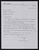 view Henri Ehrsam, Alexandria, Virginia letter to Gene Davis, Washington, D.C. digital asset number 1
