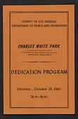 view Program for the dedication of Charles White Park digital asset number 1