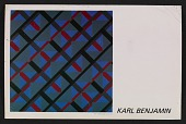 view Karl Benjamin postcard to Heritage Gallery digital asset number 1