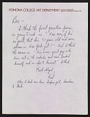 view Karl Benjamin letter to Benjamin Horowitz of the Heritage Gallery digital asset number 1