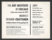 view Call for submissions for the 1957 Midwest Designer-Craftsmen exhibition digital asset number 1