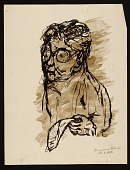 view Sketch of man holding a piece of paper digital asset number 1