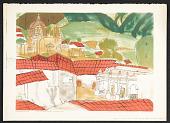 view Reproduction of <em>Schoolhouse vista</em>, a tempera by Efren Villalobos, age 11 digital asset number 1