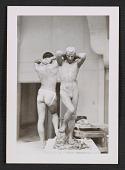 view Artists' model posing in a sculpture class digital asset number 1