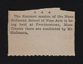 view Hofmann, Hans, Archival Material (on schools) digital asset: Hofmann, Hans, Archival Material (on schools): circa 1945, 2000