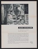view Hofmann, Hans, Printed Material (miscellaneous) digital asset: Hofmann, Hans, Printed Material (miscellaneous): circa 1950-1970