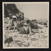 view Hans Hofmann and students on the beach in Capri digital asset number 1