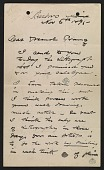 view Winslow Homer letter to Louis Prang digital asset number 1