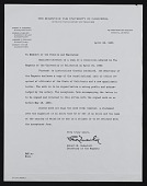 view Robert M. Underhill letter to University of California faculty and employees digital asset number 1
