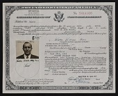 view Walter Horn's certificate of naturalization digital asset number 1