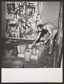 view Photograph of Emilio Vedova at work on <em>Vitalita Nell&apos;arte</em> digital asset number 1