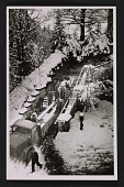 view MFAA soldiers loading boxed artworks onto a truck at Neuschwanstein Castle digital asset number 1