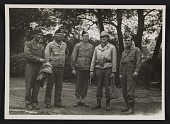view Walker Hancock, Lamont Moore, George Stout and two unidentified soldiers in Marburg, Germany digital asset number 1