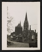view St. Foillan Church after bombing, Aachen, Germany digital asset number 1