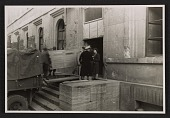 view One panel of the Ghent Altarpiece being loaded onto a truck at the Munich Collecting Point digital asset number 1