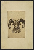 view Etching of a ram digital asset number 1