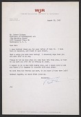 view Karl Haas letter to Robert Richman, Washington, D.C. digital asset number 1